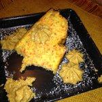 Torta di carote e salsa di amaretto