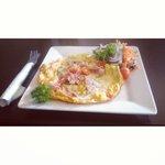 Spanish omelette served on Sunday's at breakfast.