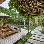Villa Seriska Dua, Seminyak Pool area