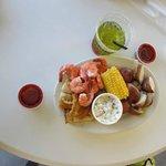Shrimp and whitefish steamed platter