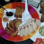 Entrée Foie Gras et ses pommes caramélisées