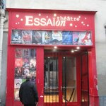 outside the tiny but perfect Essaion theatre