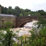 The famous Aysgarth Falls. It had a drop o water in it this day !