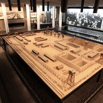 """The """"Camps"""" exhibition featuring a scale model of Treblinka that was used in the Eichmann Trial"""