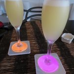Complimentary pisco sours on arrival
