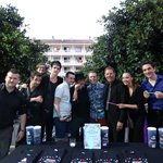 Me and Lee with the House of Illusion cast, Salou.