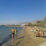 Beach at Mythos bar, nearest nice beach