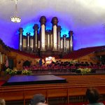 View of the inside of the Tabernacle and its amazing organ