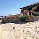 public beach bar beside silver sands