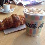 Croissant and milk bar caramel latte