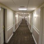 Long corridor to guest rooms