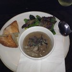 mushroom and thyme soup- heavenly!!