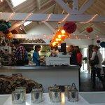 Inside the cafe area