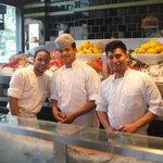 The friendly oyster bar staff