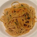 Spaghettini with sea urchin and grey mullet bottarga - heavenly great. Very special.