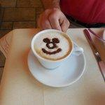 Sergio's brilliant cappuccino creation!