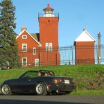 Light house and my favorite traveling car