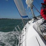 TRAVERSING THE SOLENT 2 REEFS IN MAINSAIL