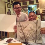 The Artist (Mr Bien) with Thomas.