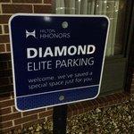 Diamond parking - nice touch