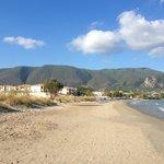 Alykanas Holiday Village and the beach.