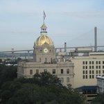 View of City Hall and the Talmadge Bridge