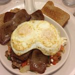 Gyro Skillet with eggs over medium
