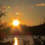 Éblouissant coucher de soleil