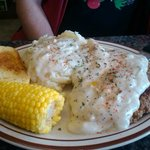 Chicken Fried Steak meal