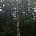 1 of 3 totem poles made by local artisan woodcarvers