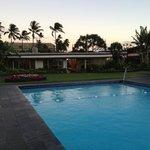 Pool looking toward reception