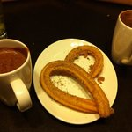 Churros and the richest, thickest hot chocolates