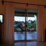 Nuestra habitación con terraza panorámica!