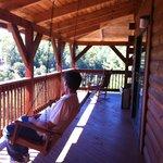 Porch Swing on Wrap-Around Porch