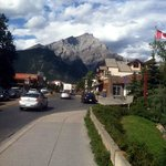 Downtown Banff - Brewing Co. on right a few blocks down