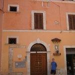 Entrance door on Via Governo