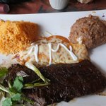 Skirt Steak and a Cheese Enchilada