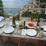 Dinner view from balcony of Sogna D' Amore suite