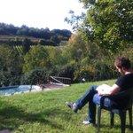 Sitting in the garden at Casa Al Chianti
