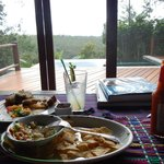 Ceviche & Belikin for lunch in Enchanted Cottage