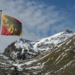 Schilthorn summit and Bern Flag   - Schilthornhutte