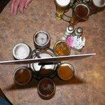 Flight of beer.