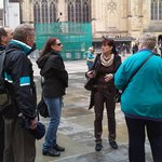 Martina providing a tour of Prague Castle