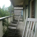 Wrap around balcony shared by 4 rooms