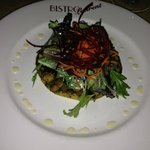 Salad with escargots