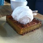 Squash pie with whipped coconut milk cream