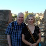 Us at the start of our tour at Porta San Paolo