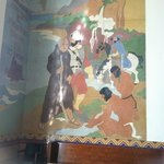 Historical mural of the founding of S.M.