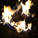 Making s'mores... Yum!