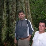 Anselmo and I - a great tour guide - standing by the telegraph tree!